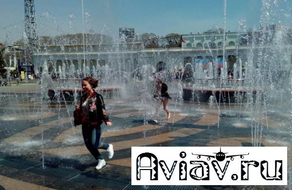 Пешеходный фонтан нанабережной заработал вХабаровске