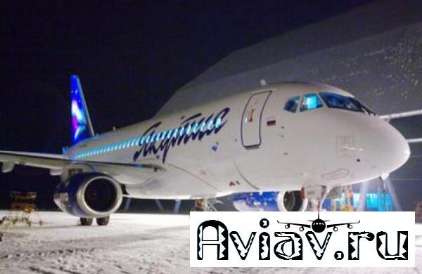 Авиакомпания «Якутия» налетала 300 часов на SSJ 100